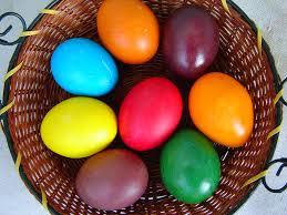 البيض الملون افكار