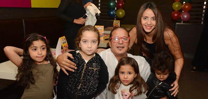 الفنان وائل نور وعائلته