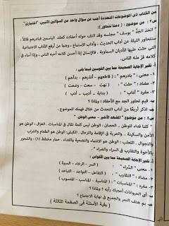 امتحان عربي القاهرة 2