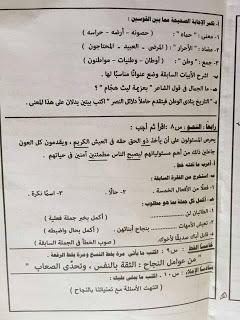 امتحان عربي القاهرة 4