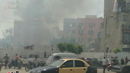 حريق طنطا اليوم