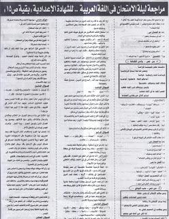 مراجعة ليلة الامتحان الجمهورية اللغة العربية5